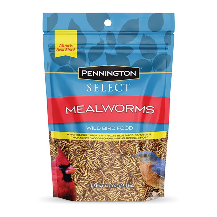 Pennington Mealworm Pouch Wild Bird 4ea/17.6 oz
