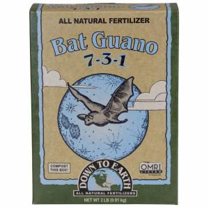 Down To Earth Bat Guano Natural Fertilizer 7-3-1 6ea/2 lb
