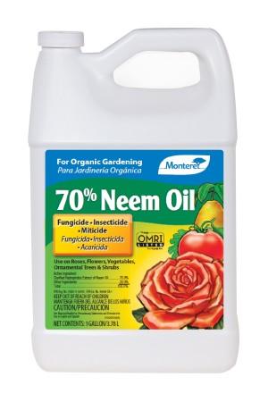 Monterey 70% Neem Oil Fungicide Insecticide Miticide Concentrate Organic 4ea/128 fl oz