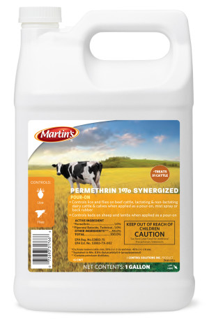 Control Solutions Permethrin 1% Synergized Pour-On Insecticide - Cattle 6ea/1 gal