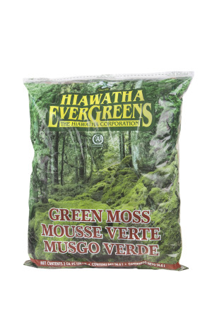 Hiawatha Evergreens Green Decorator Moss in Resealable Bags Green 8ea/2Cuft