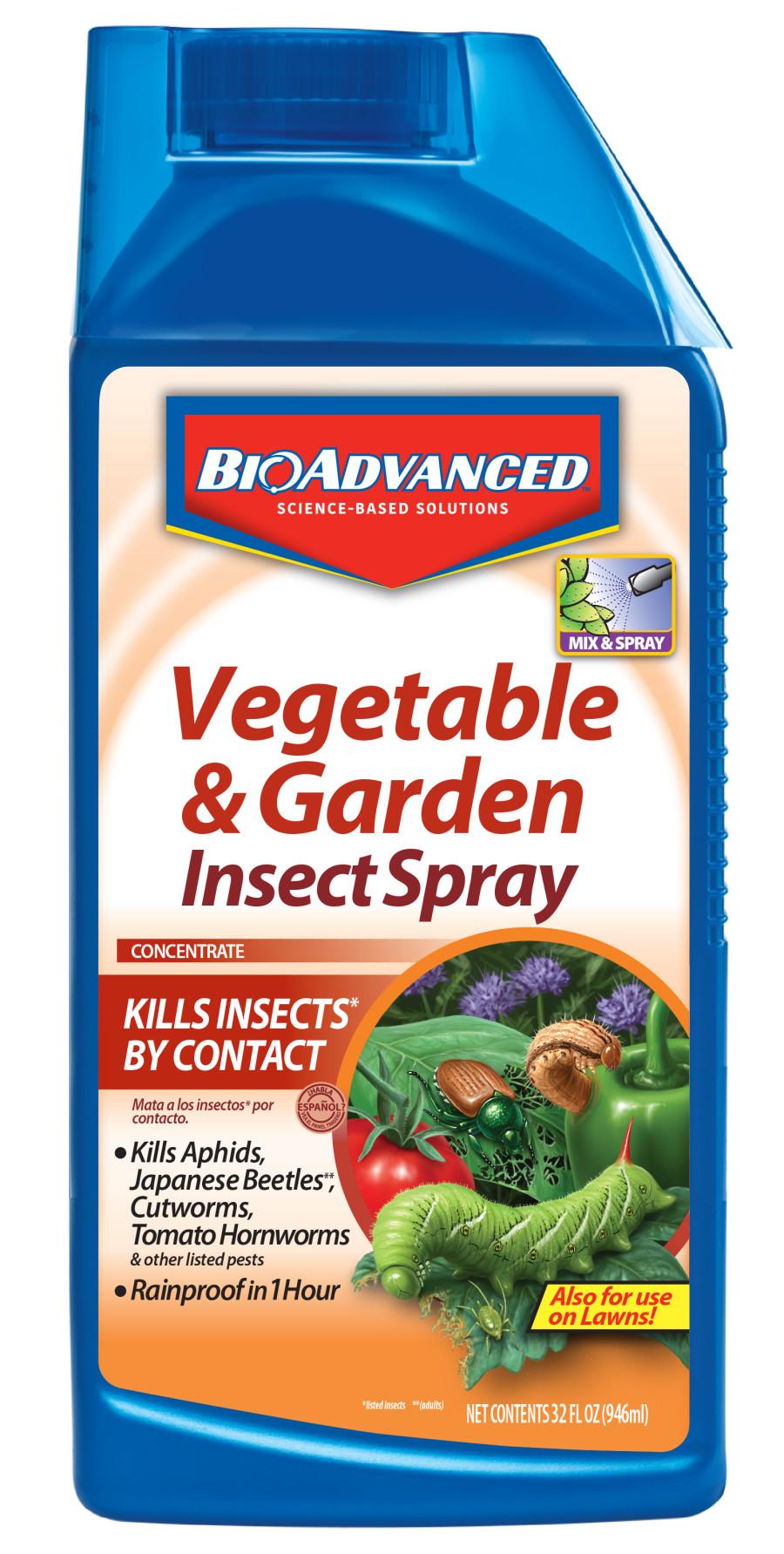 BioAdvanced Vegetable & Garden Insect Spray Concentrate 8ea/32 fl oz