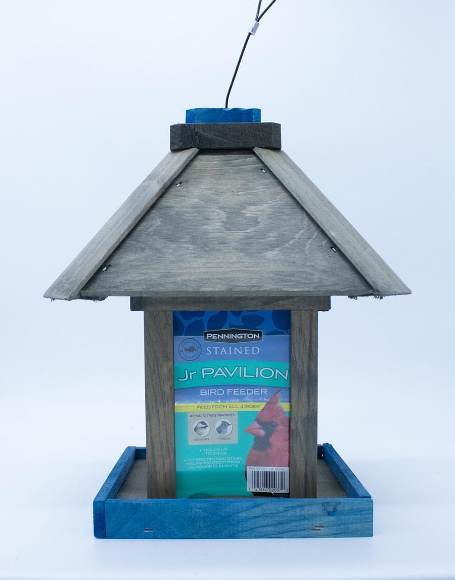 Pennington Stained Jr Pavilion Bird Feeder Blue & Gray 2ea