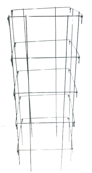 Midwest Wire Works Collapsible Square Cage 8-Leg Heavy-Duty Green 25ea/40 in