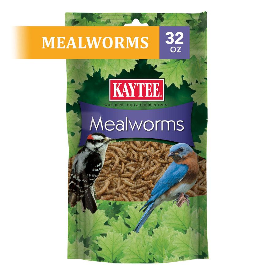Kaytee Mealworm Food Pouch 4ea/32 oz