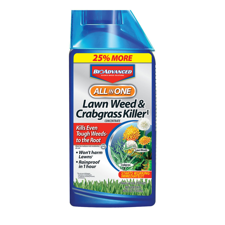 BioAdvanced All In One Lawn Weed & Crabgrass Killer Concentrate 8ea/40 oz