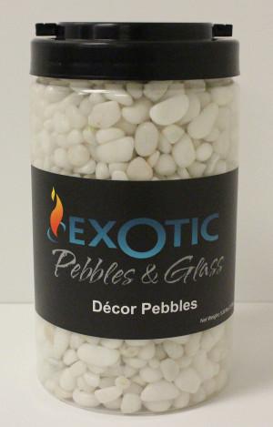 Exotic Pebbles Gravel Jar Snow White 6ea/5 lb