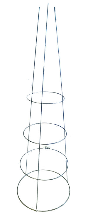 Midwest Wire Works Cage 3-Leg 4-Ring Heavy-Duty Galvanized 25ea/14In Top Ring 42 in