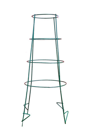 Midwest Wire Works Inverted Cage 4-Leg 4-Ring With Step Super Heavy-Duty Green 5ea/44 in