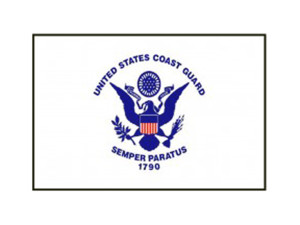 Flag Zone Coast Guard Nylon Flag with Heading and Grommets 4ea/2Ftx3 ft