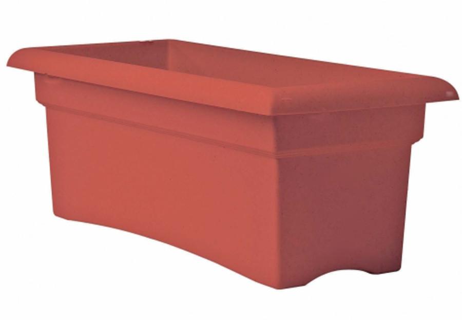 Bloem Veranda Deck Box Planter Terra Cotta 5ea/26 in