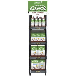 Harris Food Grade with Free Duster Floor Display 1ea/8 oz, 2 lb, 4 lb, 10.5 lb