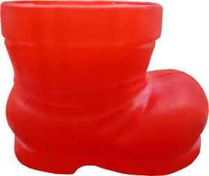 Peak Seasons Santa Boots Red 18ea/6 in