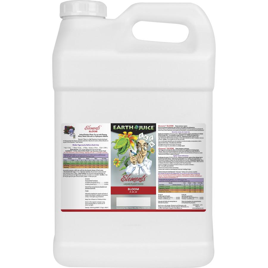 Earth Juice Elements Bloom Liquid Plant Food 0-16-16 2ea/2.5 gal