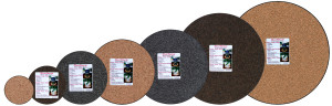 Curtis Wagner Plastics Cork-Surface Protector Plant Mat Assortment PDQ Assorted 25ea/8 in