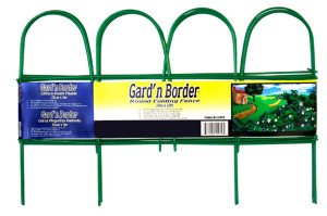 Garden Zone Gard'n Border Round Folding Fence Green 1ea/10Inx10 ft