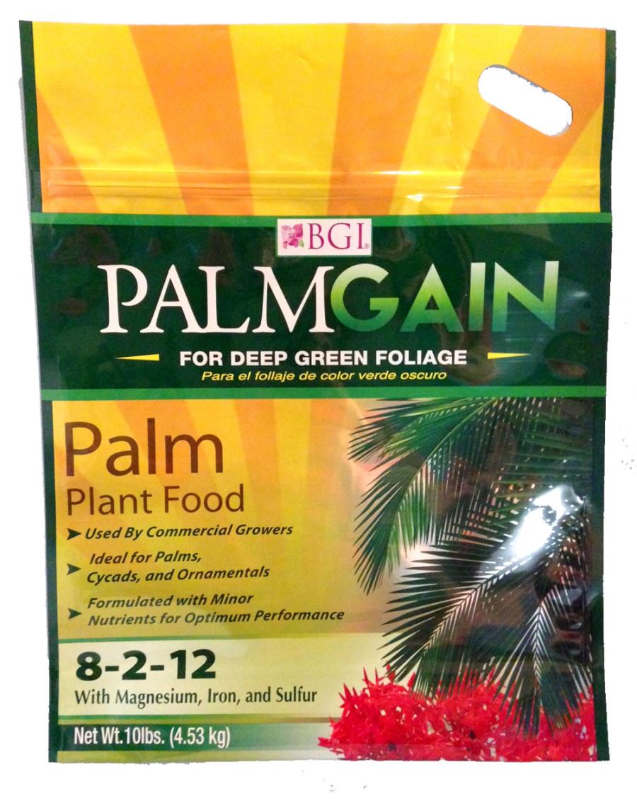 BGI PalmGain Palm Plant Food Fertilizer 8-2-12 6ea/10 lb