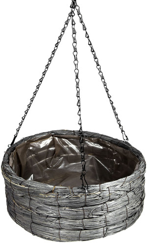 Supermoss Creative Wood Woven Hanging Basket