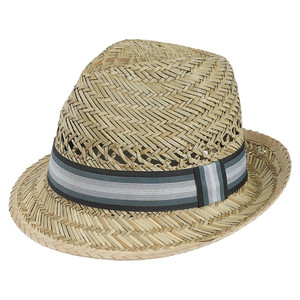 Goldcoast Sunwear Rush Fedora Hat Natural Natural 6ea/One Size