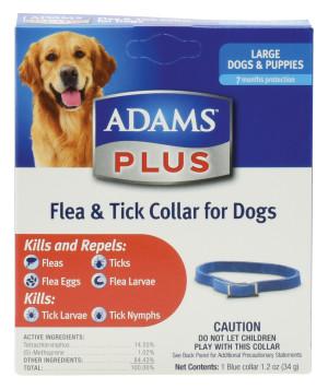 Adams Plus Flea & Tick Collar for Dogs, Large 6ea/Large
