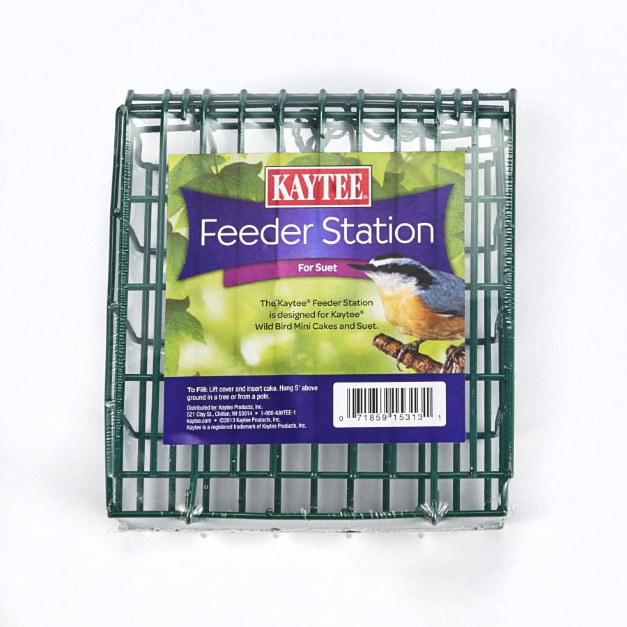 Kaytee Feeder Station for Wild Bird Mini Cakes and Suet 8ea/Holds Kaytee Mini Cakes And Suet