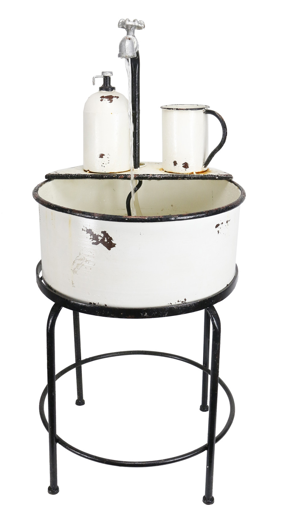 Alpine Vintage Sink Fountain & Stand White 1ea/17 In. X 17 In. X 34 in