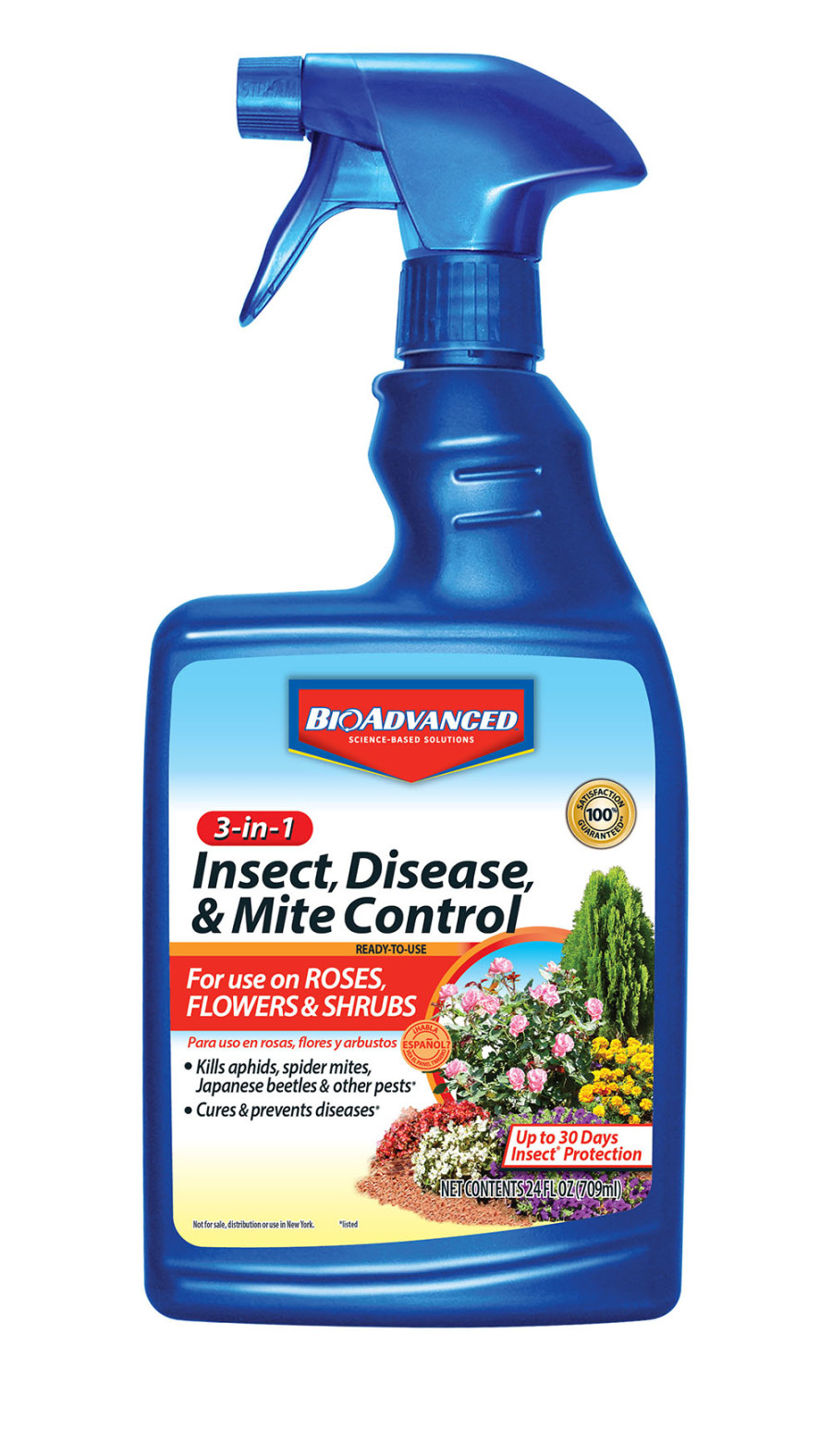 BioAdvanced 3-in-1 Insect, Disease & Mite Control Imidacloprid Ready to Use 12ea/24 fl oz