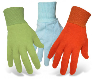 Boss Kids Solid Jersey Garden Glove Age 5-8 Assorted 12ea/Small