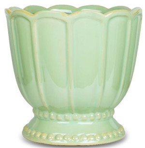 New England Pottery Tulip Pedestal Ceramic Pot Pedestal Pale Mint 1ea/11 in