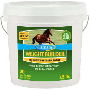 Farnam Weight Builder Equine Weight Supplement for Horses, Helps maintain optimal weight and body condition, 1ea/7.5 lb, 30 Day Supply