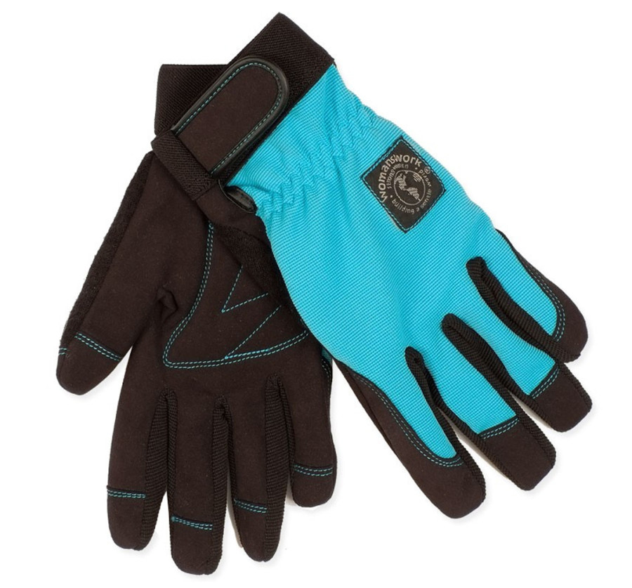 Womanswork Digger Stretch Glove Blue 6ea/Medium