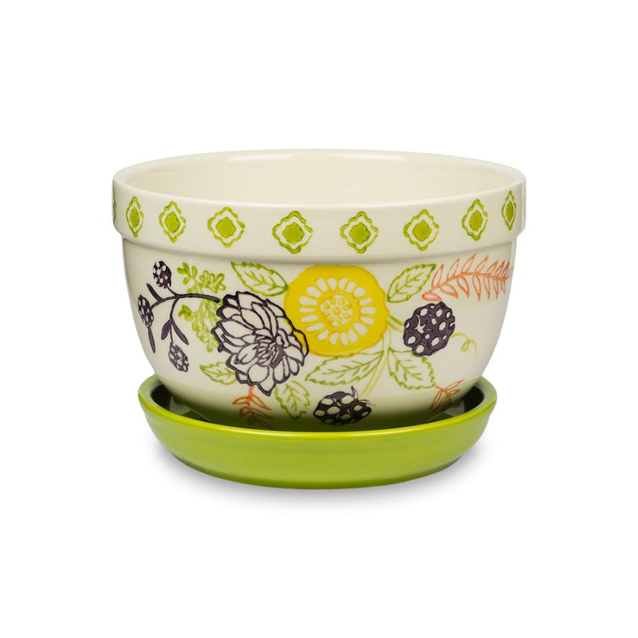 Pennington Floral Belly Pot Mimosa 4ea/7 in