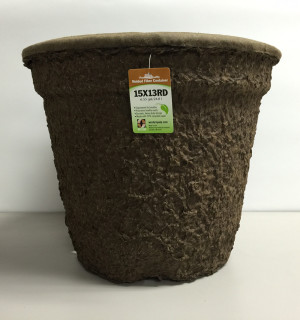 Western Pulp Molded Fiber Round Nursery Container Green 12ea/15Inx13In 6.55 gal