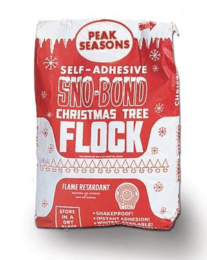 Peak Seasons Sno-Bond Christmas Tree Flock White 1ea/25 lb