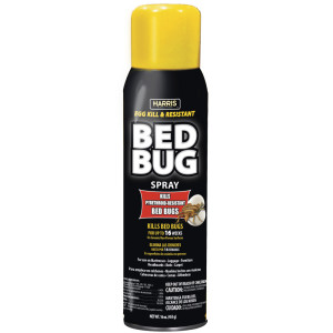 Harris Bed Bug Spray Egg Kill and Pyrethroid-Resistant Aerosol 12ea/16 oz