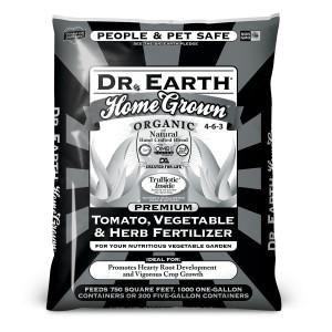 Dr. Earth Home Grown Premium Tomato, Vegetable & Herb Fertilizer 4-6-3 Black Bag 1ea/50 lb
