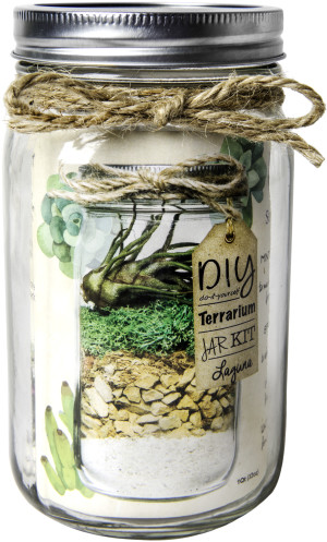 Supermoss Terrarium Kit DIY Mason Jar Laguna 12ea/32 oz