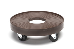 DeVault Plant Dolly with Hole Espresso 8ea/12 in