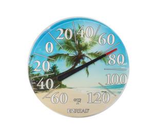 E-Z Read Dial Thermometer with Beach Multi-Color 6ea/12.5 in