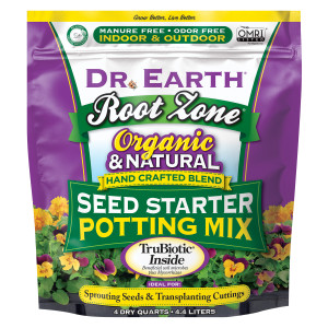 Dr. Earth Root Zone Seed Starter Potting Mix 12ea/4 qt