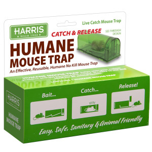Harris Humane Mouse Trap, Catch & Release Green 12ea/7 In X 2.5 In X 5.5 in
