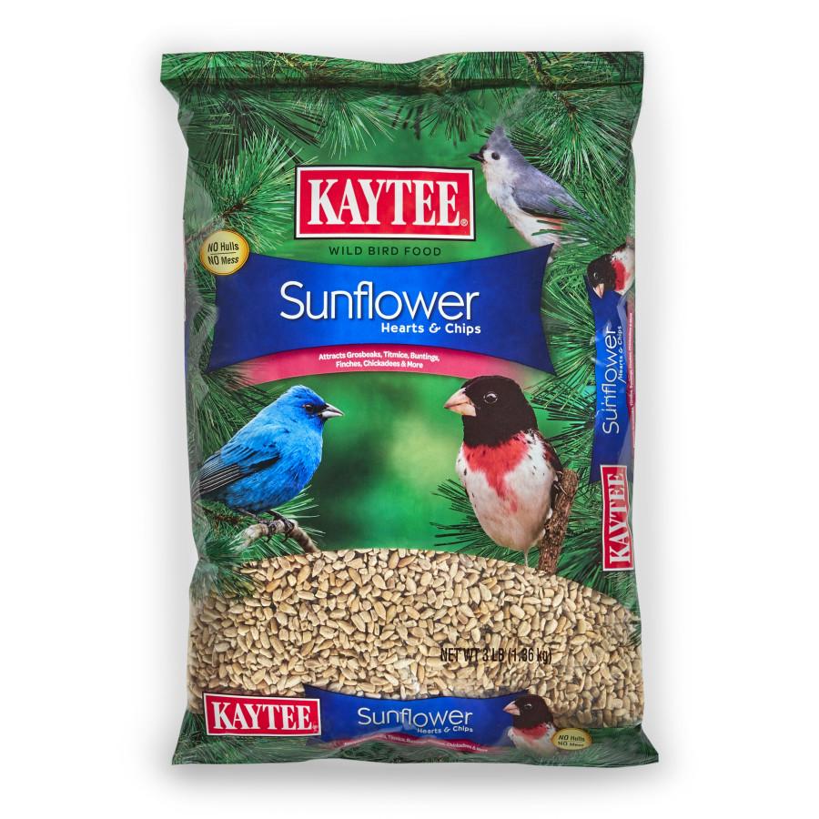 Kaytee Sunflower Hearts & Chips Wild Bird Food 6ea/3 lb