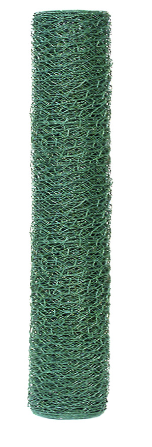 Garden Zone 20-gauge 1in Vinyl Hex Netting Green 6ea/24Inx25 ft