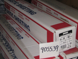 Poly America Plastic Sheeting Clear 1ea/6 Mil 40Ftx100 ft