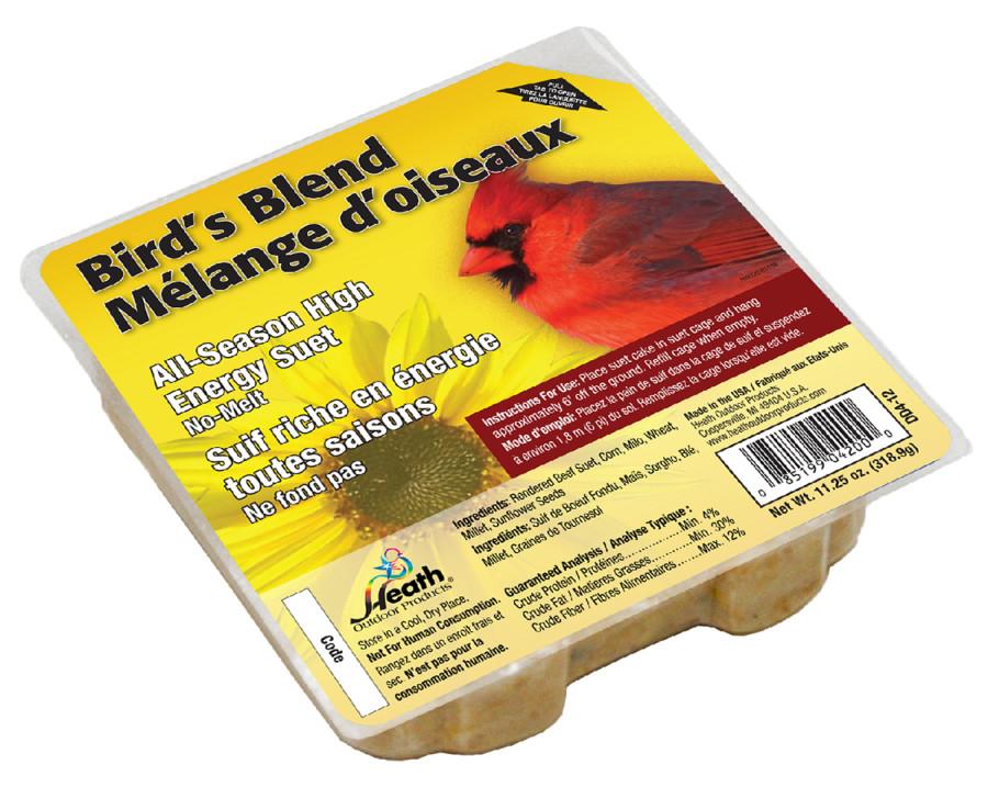 Heath Outdoor Products High Energy Birds Blend Suet Cakes