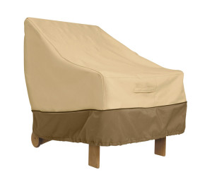Classic Accessories Veranda Patio Cover Lounge Chair Pebble 1ea/38 in