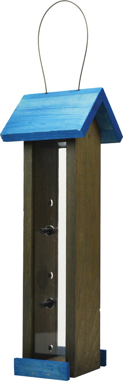 Pennington Stained Finch Bird Feeder Blue & Gray 4ea