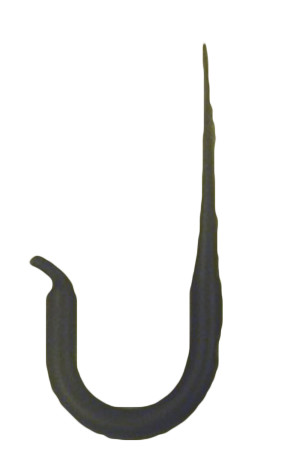 Panacea Kay Home J-Hook With Flared End Black 12ea/3.8 In (W) X 2.5 In (H) X 4.1 In (D)