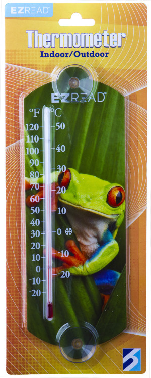 E-Z Read Thermometer Frog Multi-Color 10ea/10 in