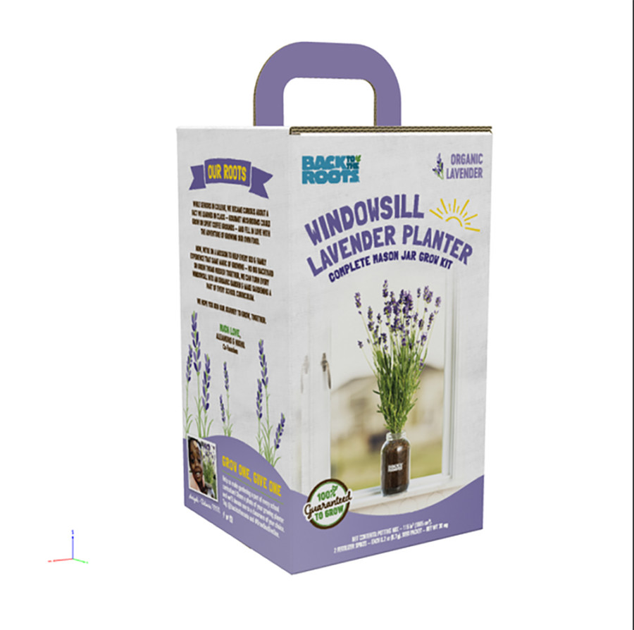 Back to the Roots Windowsill Planter Organic Lavender 6ea